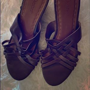 Dexter leather wedge